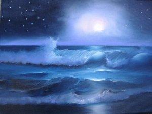noche estrellada mar
