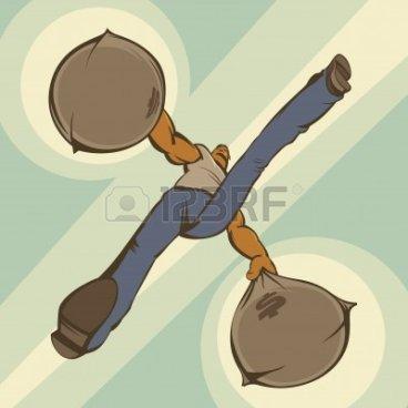 5254976-hombre-llevando-dos-sacos-de-dinero-ilustracia-n-vectorial